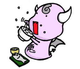 Cute and mad devils sticker #3680283