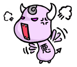 Cute and mad devils sticker #3680294