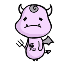 Cute and mad devils sticker #3680297