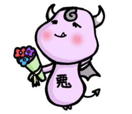 Cute and mad devils sticker #3680309
