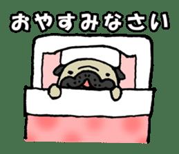 Japanese pug stickers sticker #3681604