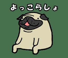 Japanese pug stickers sticker #3681606