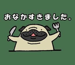 Japanese pug stickers sticker #3681609