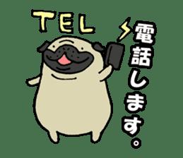Japanese pug stickers sticker #3681610