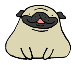 Japanese pug stickers sticker #3681615