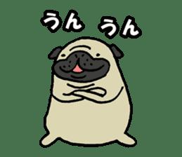 Japanese pug stickers sticker #3681616