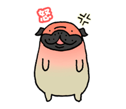 Japanese pug stickers sticker #3681618