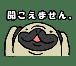 Japanese pug stickers sticker #3681622