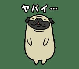 Japanese pug stickers sticker #3681626