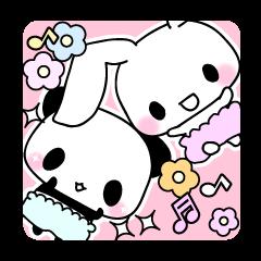 Small baby rabbit and panda