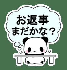 Small baby rabbit and panda sticker #3685311