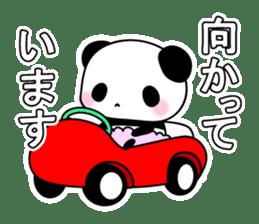 Small baby rabbit and panda sticker #3685313