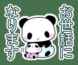 Small baby rabbit and panda sticker #3685314