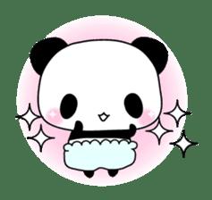 Small baby rabbit and panda sticker #3685317