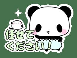 Small baby rabbit and panda sticker #3685319