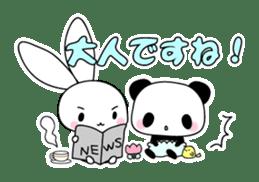 Small baby rabbit and panda sticker #3685320
