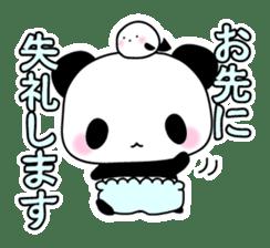 Small baby rabbit and panda sticker #3685321