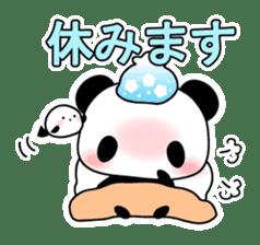 Small baby rabbit and panda sticker #3685342