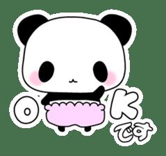 Small baby rabbit and panda sticker #3685343