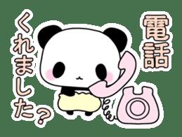 Small baby rabbit and panda sticker #3685345