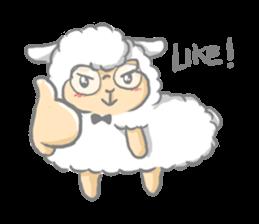Nerdy Llama sticker #3712893