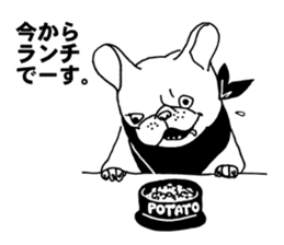French bull POTATO sticker #3732118