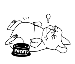 French bull POTATO sticker #3732130