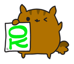 Rista the chubby squirrel sticker #3732433