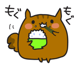 Rista the chubby squirrel sticker #3732456