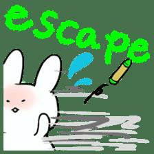 graffiti of rabbit sticker #3736570