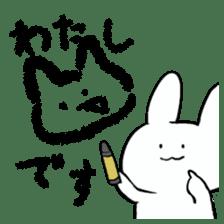 graffiti of rabbit sticker #3736573