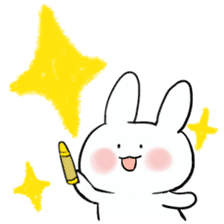 graffiti of rabbit sticker #3736582