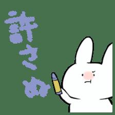 graffiti of rabbit sticker #3736592