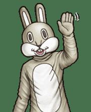 Funny animal suit sticker #3744607