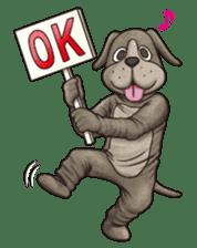 Funny animal suit sticker #3744613