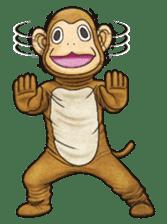 Funny animal suit sticker #3744616