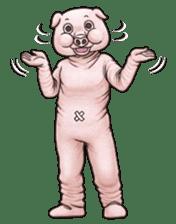 Funny animal suit sticker #3744617