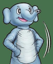 Funny animal suit sticker #3744624