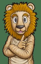 Funny animal suit sticker #3744625
