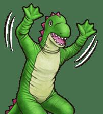 Funny animal suit sticker #3744626