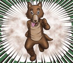 Funny animal suit sticker #3744628