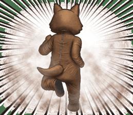 Funny animal suit sticker #3744629