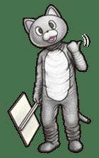 Funny animal suit sticker #3744630
