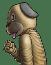 Funny animal suit sticker #3744631
