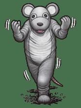 Funny animal suit sticker #3744633