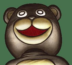 Funny animal suit sticker #3744634