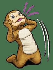 Funny animal suit sticker #3744638