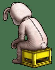 Funny animal suit sticker #3744641
