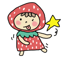Ichigo Chan and friend.(Eng) sticker #3770170