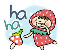 Ichigo Chan and friend.(Eng) sticker #3770188
